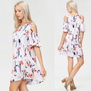 Summer dress.  Cold shoulder